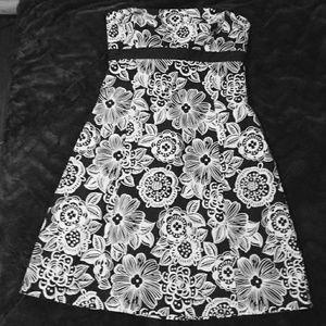 Ann Taylor LOFT Floral dress strapless